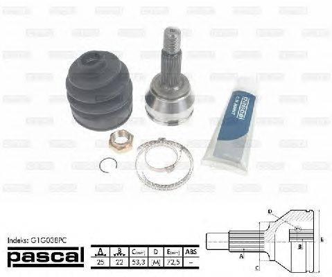 PASCAL (НОМЕР: G1G038PC) Шарнирный комплект, приводной вал