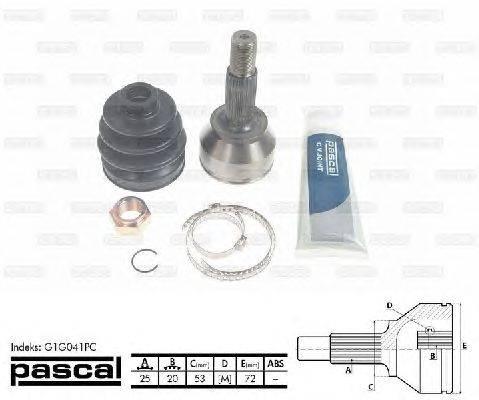 PASCAL (НОМЕР: G1G041PC) Шарнирный комплект, приводной вал