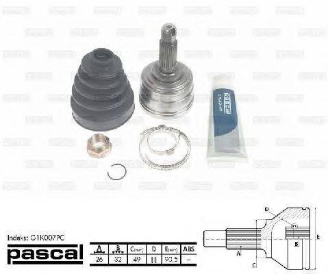 PASCAL (НОМЕР: G1K007PC) Шарнирный комплект, приводной вал