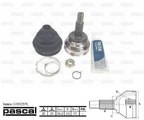 PASCAL (НОМЕР: G1R005PC) Шарнирный комплект, приводной вал