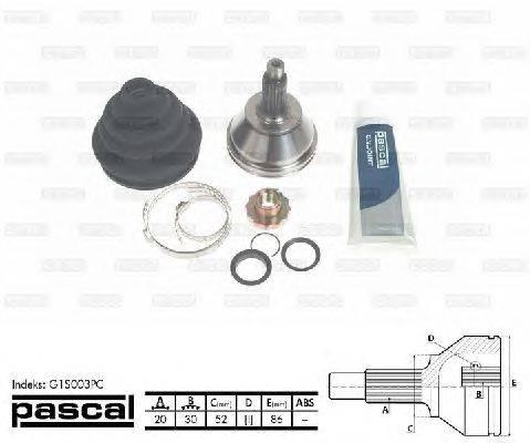 PASCAL (НОМЕР: G1S003PC) Шарнирный комплект, приводной вал