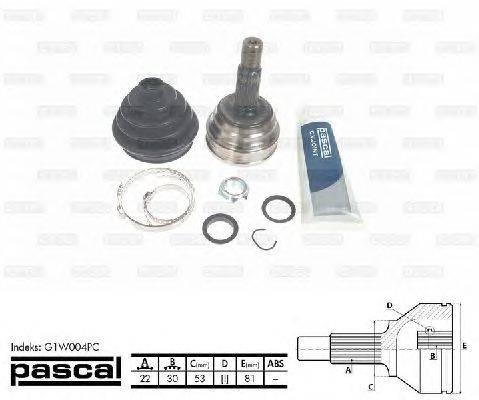 PASCAL (НОМЕР: G1W004PC) Шарнирный комплект, приводной вал