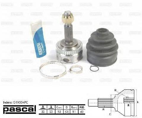 PASCAL (НОМЕР: G1X004PC) Шарнирный комплект, приводной вал