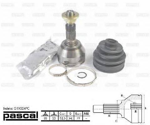 PASCAL (НОМЕР: G1X024PC) Шарнирный комплект, приводной вал