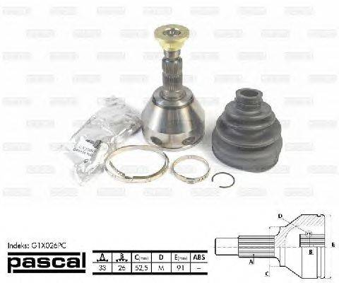 PASCAL (НОМЕР: G1X026PC) Шарнирный комплект, приводной вал