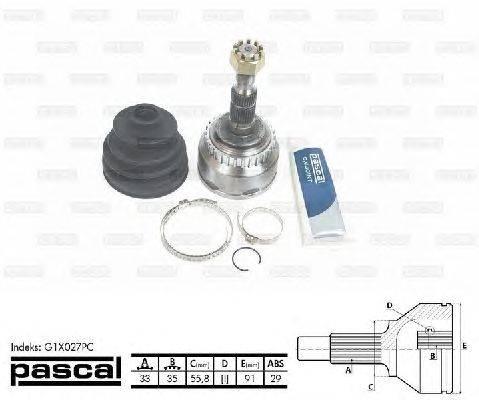 PASCAL (НОМЕР: G1X027PC) Шарнирный комплект, приводной вал