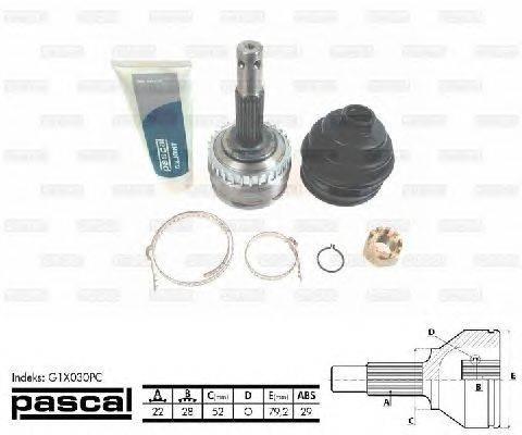 PASCAL (НОМЕР: G1X030PC) Шарнирный комплект, приводной вал