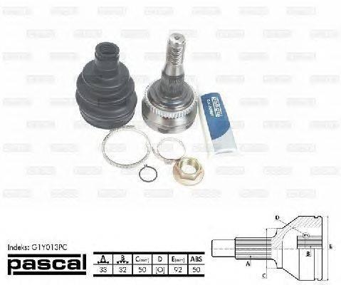 PASCAL (НОМЕР: G1Y013PC) Шарнирный комплект, приводной вал