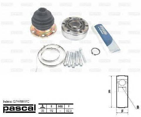 PASCAL (НОМЕР: G7W001PC) Шарнирный комплект, приводной вал