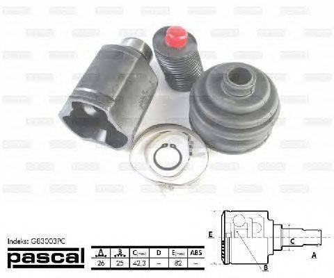 PASCAL (НОМЕР: G83003PC) Шарнирный комплект, приводной вал