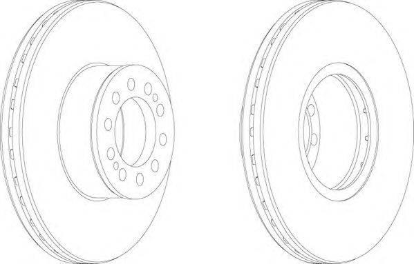 FERODO (НОМЕР: FCR330A) Тормозной диск