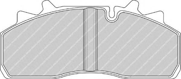 FERODO (НОМЕР: FCV1963) Комплект тормозных колодок, дисковый тормоз