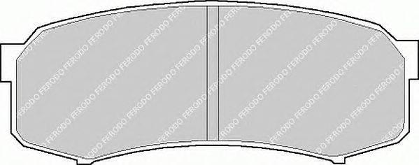 FERODO (НОМЕР: FDB1021) Комплект тормозных колодок, дисковый тормоз