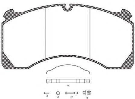 KAWE (НОМЕР: JCA847.80) Комплект тормозных колодок, дисковый тормоз