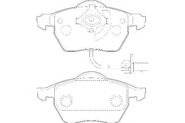 Комплект тормозных колодок, дисковый тормоз WAGNER WBP20676A