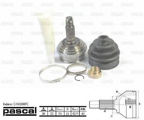 PASCAL (НОМЕР: G1K008PC) Шарнирный комплект, приводной вал
