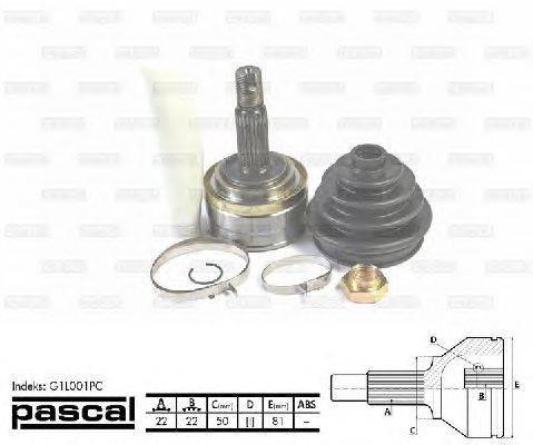 PASCAL (НОМЕР: G1L001PC) Шарнирный комплект, приводной вал