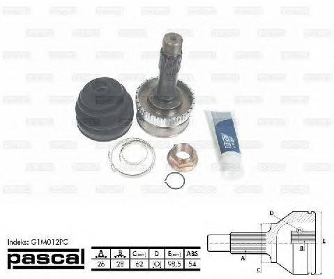 Шарнирный комплект, приводной вал PASCAL G1M012PC