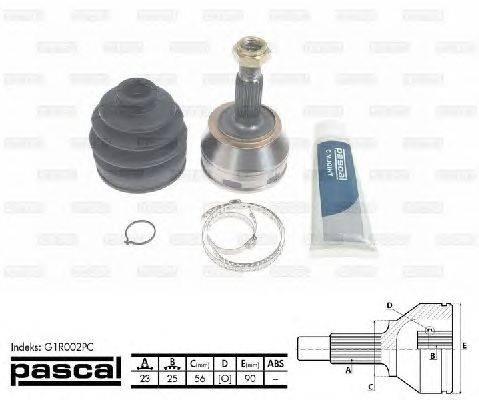 PASCAL (НОМЕР: G1R002PC) Шарнирный комплект, приводной вал