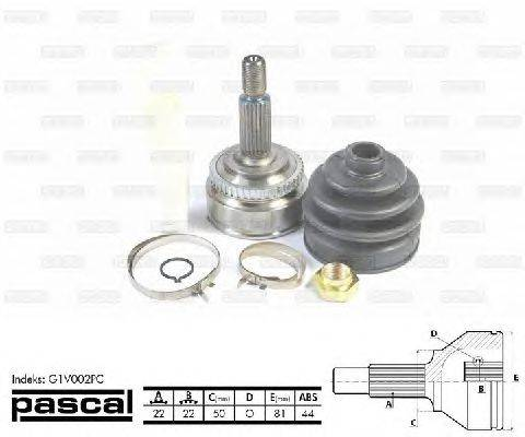 PASCAL (НОМЕР: G1V002PC) Шарнирный комплект, приводной вал