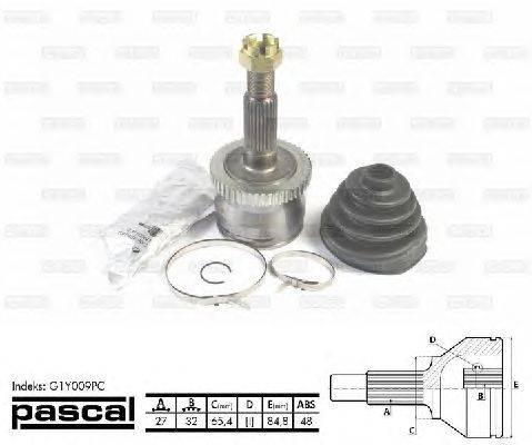PASCAL (НОМЕР: G1Y009PC) Шарнирный комплект, приводной вал