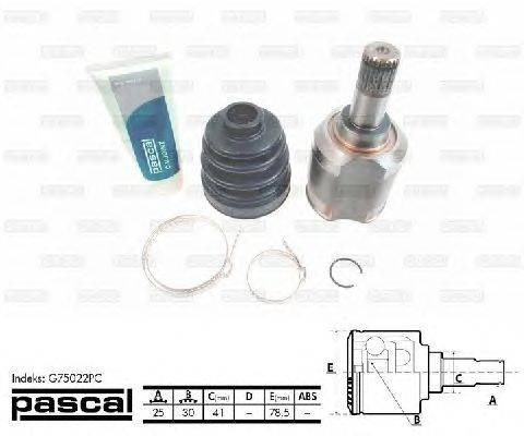 PASCAL (НОМЕР: G75022PC) Шарнирный комплект, приводной вал