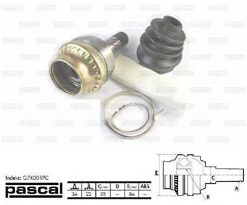 PASCAL (НОМЕР: G7X001PC) Шарнирный комплект, приводной вал
