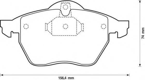 Комплект тормозных колодок, дисковый тормоз BENDIX 571920B