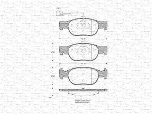 MAGNETI MARELLI (НОМЕР: 363702160340) Комплект тормозных колодок, дисковый тормоз