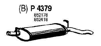 Глушитель выхлопных газов конечный FENNO P4379