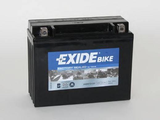 Стартерная аккумуляторная батарея EXIDE AGM12-23