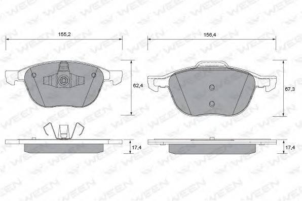 Комплект тормозных колодок, дисковый тормоз WEEN 151-1113