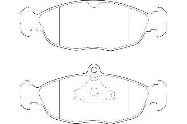 Комплект тормозных колодок, дисковый тормоз WAGNER WBP20547A