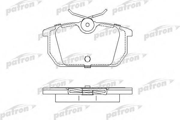 PATRON (НОМЕР: PBP409) Комплект тормозных колодок, дисковый тормоз