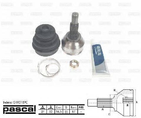 PASCAL (НОМЕР: G1R018PC) Шарнирный комплект, приводной вал