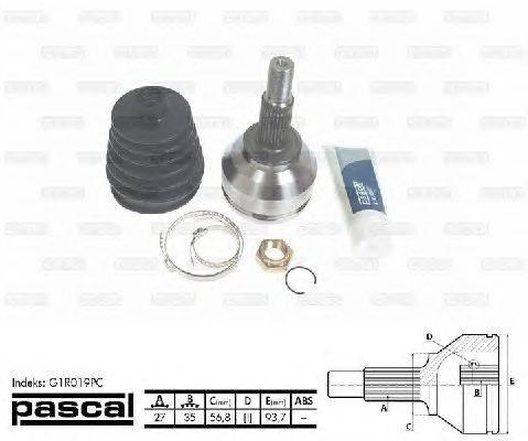 PASCAL (НОМЕР: G1R019PC) Шарнирный комплект, приводной вал