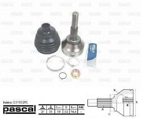 PASCAL (НОМЕР: G1Y012PC) Шарнирный комплект, приводной вал