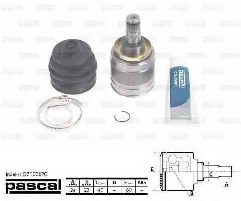PASCAL (НОМЕР: G71006PC) Шарнирный комплект, приводной вал