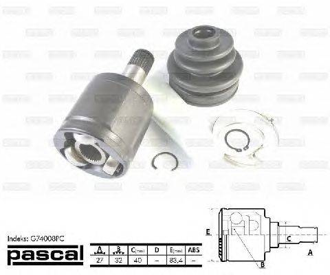 PASCAL (НОМЕР: G74008PC) Шарнирный комплект, приводной вал
