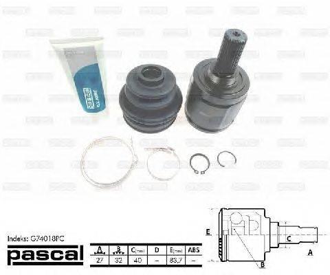 PASCAL (НОМЕР: G74018PC) Шарнирный комплект, приводной вал