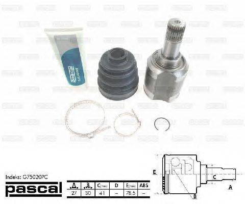 PASCAL (НОМЕР: G75020PC) Шарнирный комплект, приводной вал
