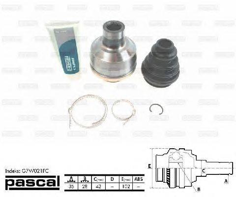 PASCAL (НОМЕР: G7W021PC) Шарнирный комплект, приводной вал