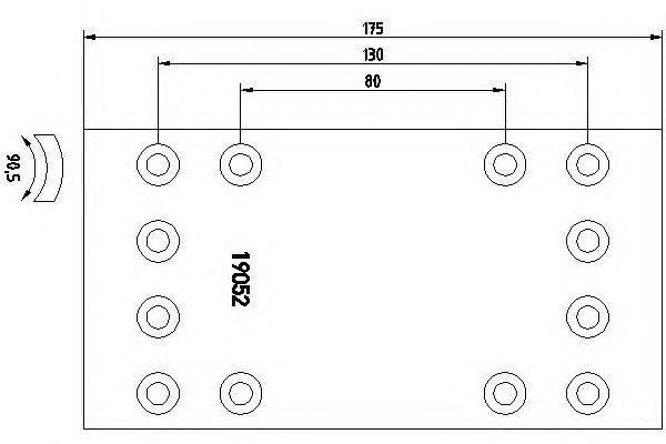 Комплект тормозных башмаков, барабанные тормоза TEXTAR 1905203