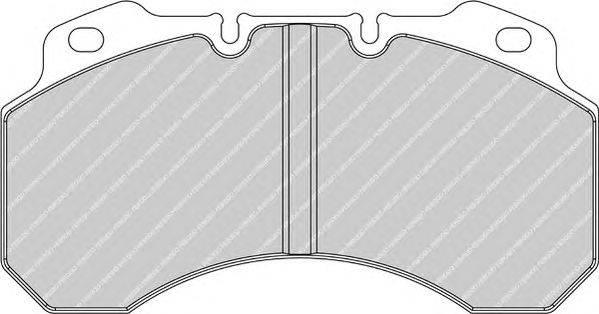 FERODO (НОМЕР: FCV1159B) Комплект тормозных колодок, дисковый тормоз