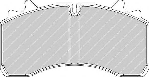 FERODO (НОМЕР: FCV1828) Комплект тормозных колодок, дисковый тормоз