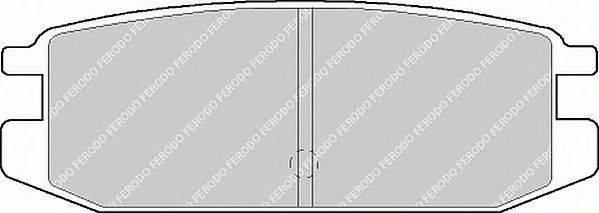 FERODO (НОМЕР: FDB1010) Комплект тормозных колодок, дисковый тормоз