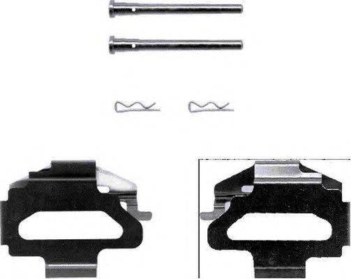 Комплектующие, колодки дискового тормоза MINTEX MBA1141