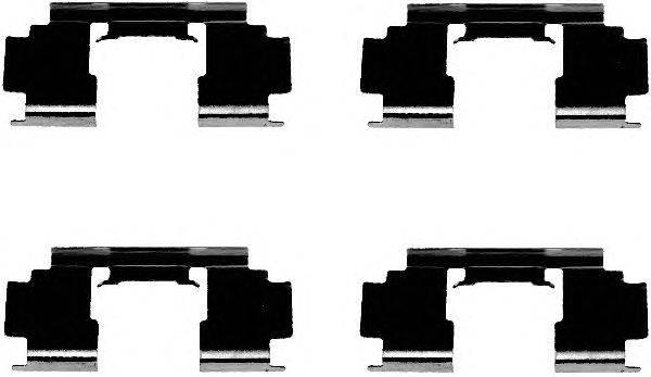 Комплектующие, колодки дискового тормоза MINTEX MBA1276