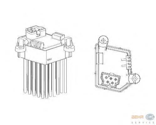 BEHR HELLA SERVICE (НОМЕР: 5HL 351 321-191) Регулятор, вентилятор салона