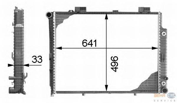 Радиатор, охлаждение двигателя BEHR HELLA SERVICE 8MK 376 712-751